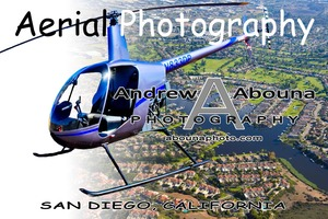 Aerial Photography San Diego t-shirt featuring Robinson R22 Helicopter -AbounaPhoto Graphic 2b-1