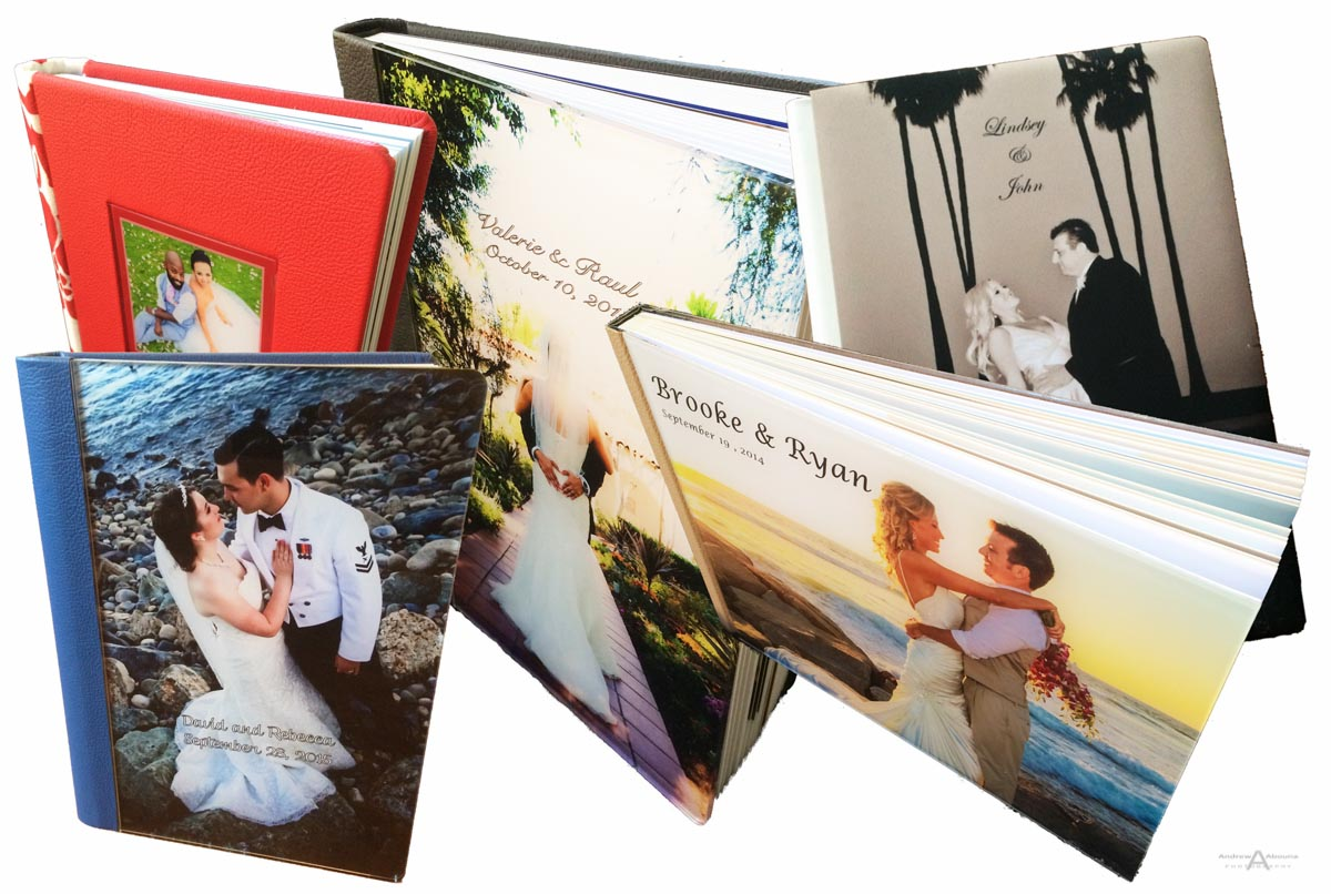 Wedding album covers offered by Wedding Photographers in San Diego Andrew Abouna-